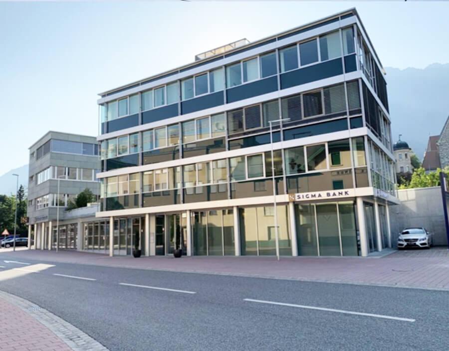 ee-consult Energieberater Vorarlberg, Absorptionskühlung mit Biomasseerneuerung Kunde Sigma Bank Liechtenstein